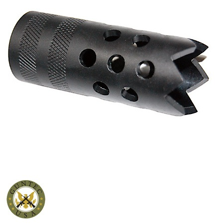Guntec usa saiga 12 muzzlebrake w door breacher 6 prong for 12 gauge door breacher